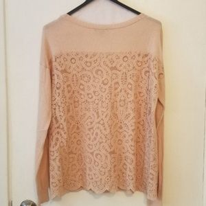 American Eagle Lace-back Sweater